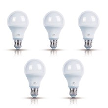 Kit com 5 Lâmpadas LED Bulbo Luz Amarela 12W Bivolt OL