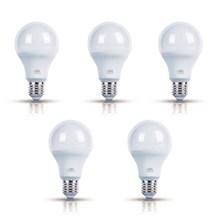 Kit com 5 Lâmpadas LED Bulbo Luz Amarela 7W Bivolt OL