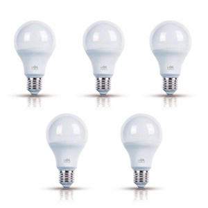Kit com 5 Lâmpadas LED Bulbo Luz Amarela 9W Bivolt OL