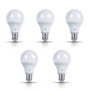 Kit com 5 Lâmpadas LED Bulbo Luz Branca 4W Bivolt OL