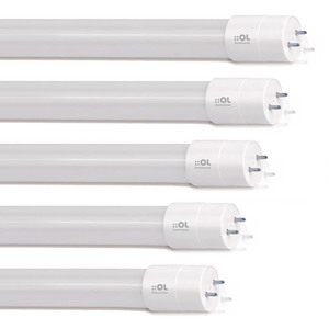 Kit com 5 Lâmpadas LED Tubular Luz Branco 9W Bivolt OL