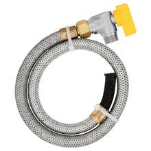 Kit com Registro de Esfera e Mangueira Para aquecedor de água a gás  Vinigas