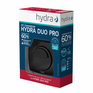 Kit Conversor para Válvula de Descarga 1.1/4 Black Matte Hydra Duo