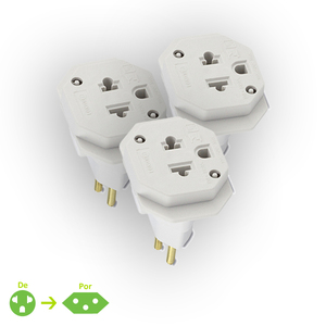 Kit de Adaptador 1tomadas  Branco Force Line