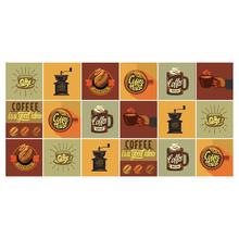 Kit de Adesivo Ladrilho Coffee 5x15cm 18 peças