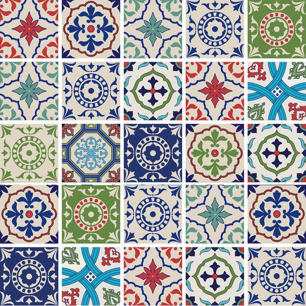 Kit de adesivos azulejo dithering colorido 15x15cm 24 for Azulejo 15x15