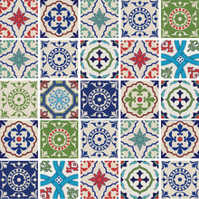 Kit de Adesivos Azulejo Dithering Colorido 20x20cm 25 peças