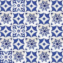 Kit de Adesivos Azulejo Nicolette Azul 15x15cm 25 peças