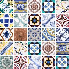 Kit de Adesivos Azulejo Scarlett Colorido 15x15cm 25 peças