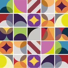 Kit de Adesivos Azulejo Vibrant Colorido 15x15cm 25 peças
