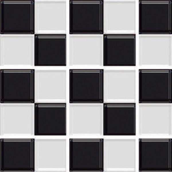 Kit de adesivos xadrez preto e branco 15x15cm 24 pe as - Azulejo 15x15 blanco ...