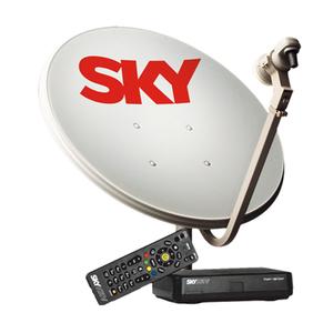 Kit de Antena com Conversor Digital Pré Pago Flex SH01 SKY