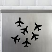 Kit de Imãs Avião Preto 6 Peças