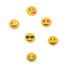 Kit de Imãs Emojis 6 Peças