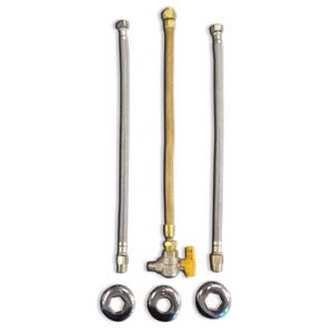 """Kit de Ligação Corrugado para Aquecedor de Água a Gás 1/2""""x1/2"""" 30cm Equation"""