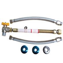 """Kit de Ligação para Aquecedor de Passagem a Gás 1/2""""x1/2"""" 30cm Trançado Equation"""