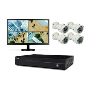 Kit de Monitoramento 4 Câmeras HMK-100-C4 HDL