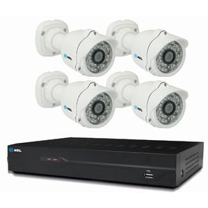 Kit de Monitoramento 4 Câmeras HMK-200-C4 HDL