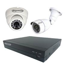 Kit de Monitoramento 4 Canais com 2 Câmeras HD Segurimax