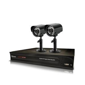 Kit de Monitoramento CIF 4 Canais com 2 Cameras com HD500 Infinito