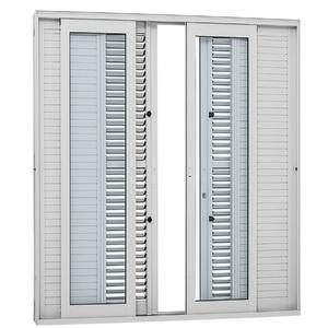 Kit de Porta Montada Balcão Veneziana de Alumínio 2,16x2,00m Sasazaki