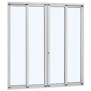 Kit de Porta Montada de Correr Lisa de Alumínio 2,16x2,50m Sasazaki