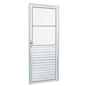 Kit de Porta Montada de Giro Lisa de Alumínio 2,10x0,80m Habitec