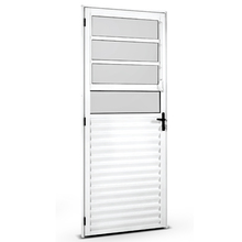 Kit de Porta Montada de Giro Basculante de Alumínio 2,10x0,80m Habitec
