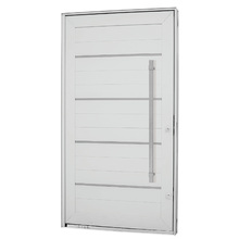 Kit de Porta Montada Pivotante Decorada de Alumínio 2,23x1,20m Sasazaki