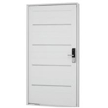 Kit de Porta Montada Pivotante Decorada de Alumínio 2,24x1,26m Sasazaki