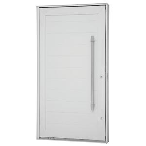 Kit de Porta Montada Pivotante Lisa de Alumínio 2,43x1,40m Sasazaki
