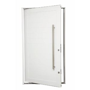 Porta montada pivotante lisa metal alum nio esquerdo 2 for Miroir 50 x 70 leroy merlin