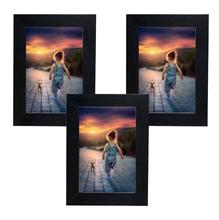 Kit de Porta Retratos Básico Preto 10x15cm 3 peças