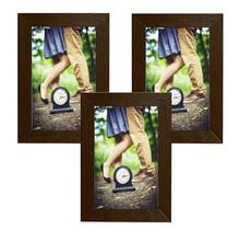 Kit de Porta Retratos Liso Tabaco 10x15cm 3 peças
