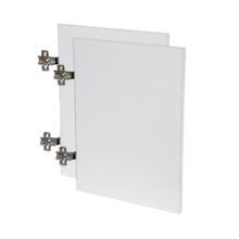 Kit de Portas para Nicho Retangular 80x40cm Branco Infinity Spaceo