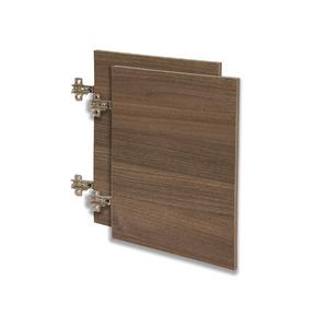 Kit de Portas para Nicho Retangular 60x40cm Nogal Infinity Spaceo