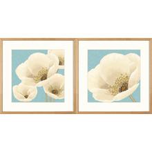 Kit de Quadros Classic Flowers 39x39cm 2 peças