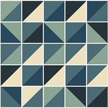 Kit de Revestimento Auto Adesivo Azulejo Geometric Azul 15x15cm 25 peças
