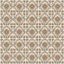Kit de Revestimento Auto Adesivo Azulejo Marrocos Bege 15x15cm 25 peças