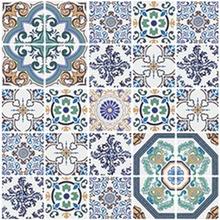 Kit de Revestimento Auto Adesivo Azulejo Tendence Azul 15x15cm 25 peças