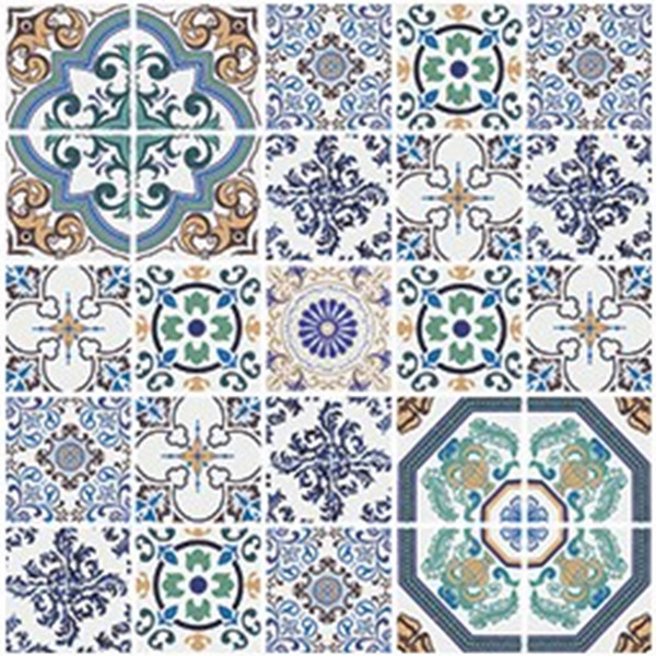 Kit de adesivos azulejo tendence azul 15x15cm 24 pe as for Azulejo 15x15