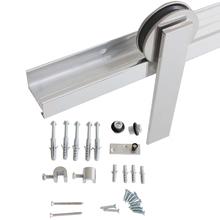 Kit de Trilhos para Porta de Correr 50Kg Alumínio Escovado 1 Porta H402AE Geris