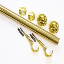 Kit de Varão Alumínio Elegance 2,00m Dourado 28mm