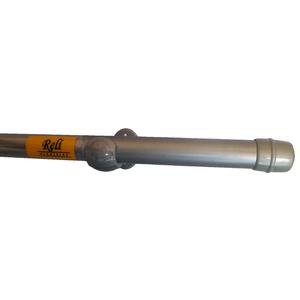 Kit de Varão Alumínio Havana 1,50m Escovado 28mm