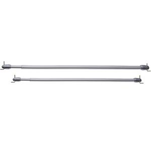 Kit de Varão Extensível Ferro 0,50 a 0,80m Cinza 9mm