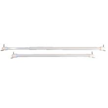 Kit de Varão Extensível Ferro 0,80 a 1,10m Branco 9mm