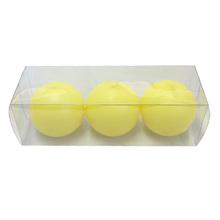 Kit de Vela Bola Amarela 6cm 3 Unidades