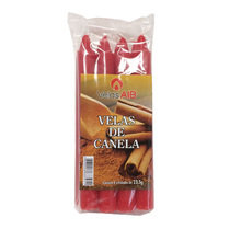 Kit de Vela Maço Canela  Número 6 Vermelha 8 Unidades