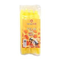 Kit de Vela Maço Mel Número 6 Amarela 8 Unidades