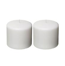 Kit de Velas Cilíndricas Brancas 2 Unidades